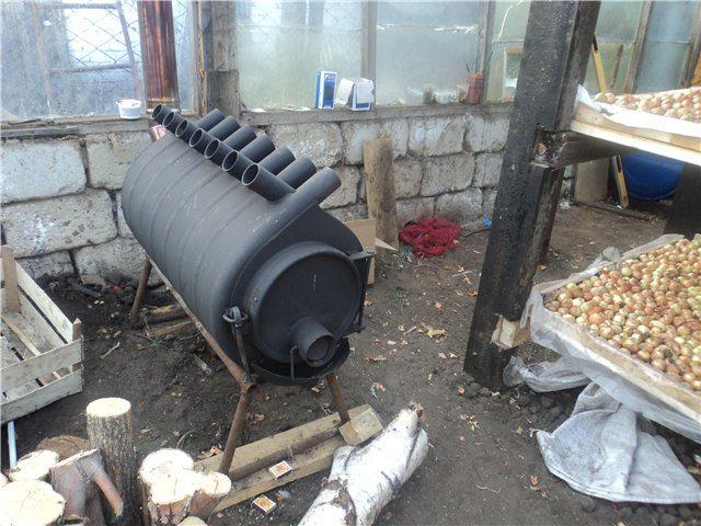 Фото Печи длительного горения для теплиц своими