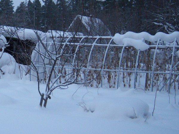 Чрезмерное количество снега не способно повредить постройке