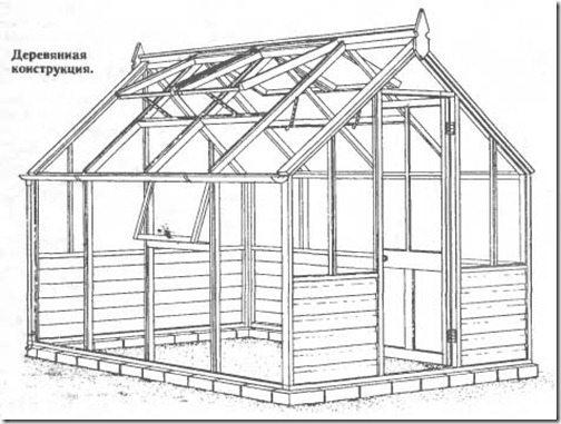 Конструкция с двускатной крышей.