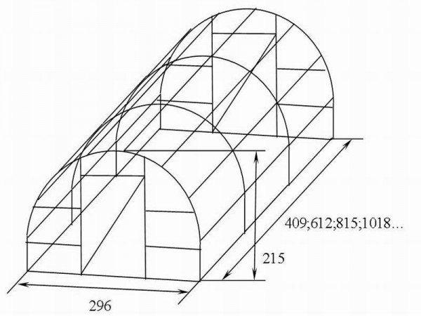 Пример схемы арочной теплички