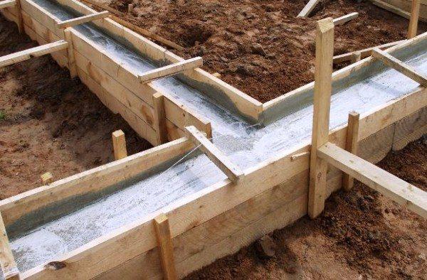 Пример устройства ленточного фундамента под большую теплицу