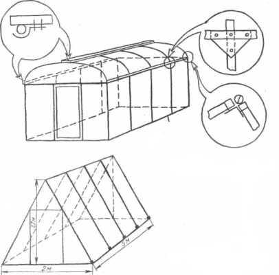 Схема соединения узлов и креплений