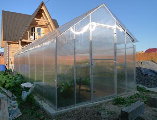 Теплица-домик из поликарбоната позволяет выращивать овощи, цветы и декоративные растения на протяжении круглого года