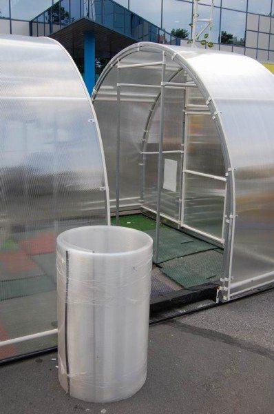 Уникальные новые теплицы из поликарбоната со съемной крышей модели «Матрешка».