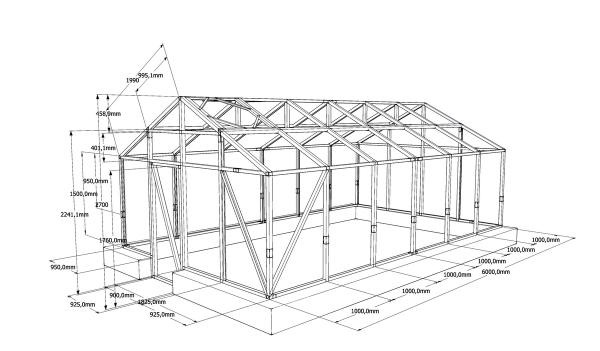 Схема каркаса парника из дерева