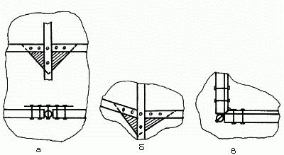 Схематическое изображение узлов соединения