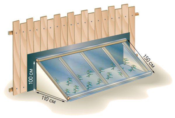 В таком укрытии удобно содержать растения в тепле даже во время заморозков.