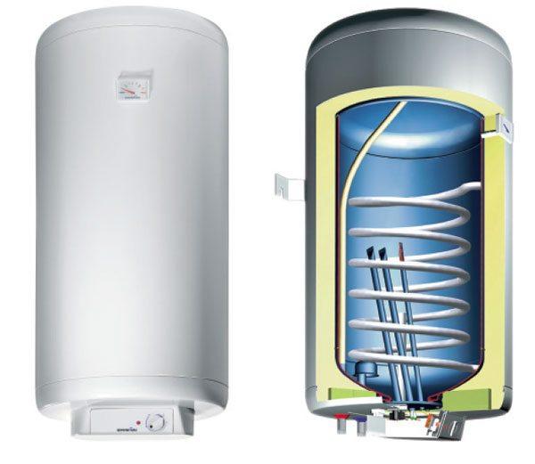 Для организации водяного нагрева можно использовать обычный бытовой бойлер