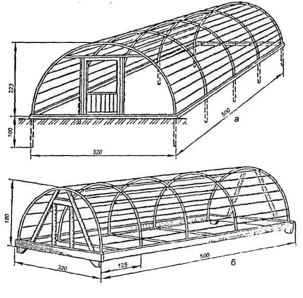 Каркас простых аркообразных конструкций