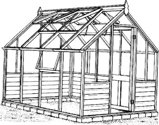 Конструкция деревянной теплицы