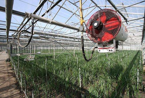Любительское фото нагревателя воздуха совмещенного с вентилятором