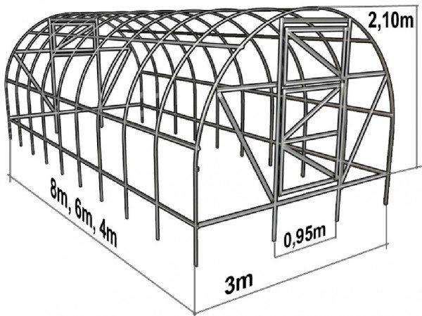 Меняя высоту вертикальных участков стен, можно получить разные комбинации ширины и высоты.