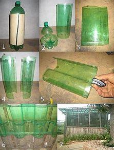 Порядок изготовления крыши из пластиковых бутылок для теплицы