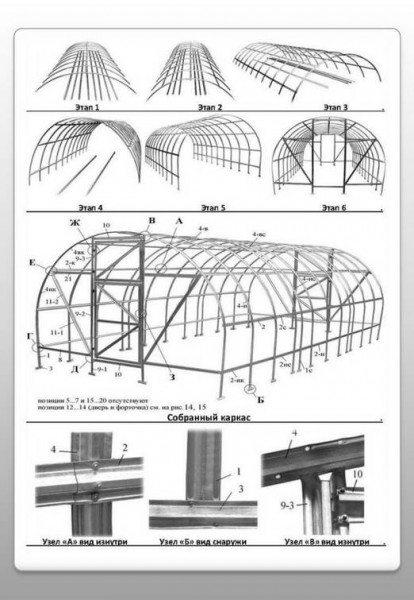Сборка арки металлической под поликарбонат.