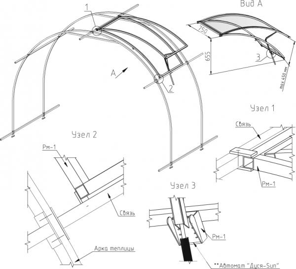 Схема форточки