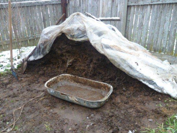 Складирование почвы требует выделения отдельного места