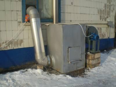 Специальная печь для отопления, совмещенная с вентиляцией