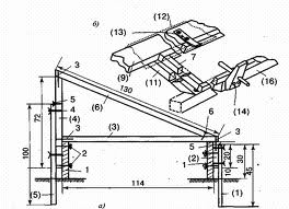 Вариант изготовления каркаса с указанием необходимых размеров и узлов соединения