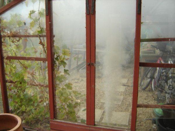 Фото в процессе дымовой обработки