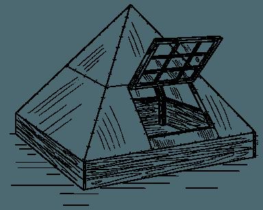 Упрощенный вариант конструкции пирамидальной формы.