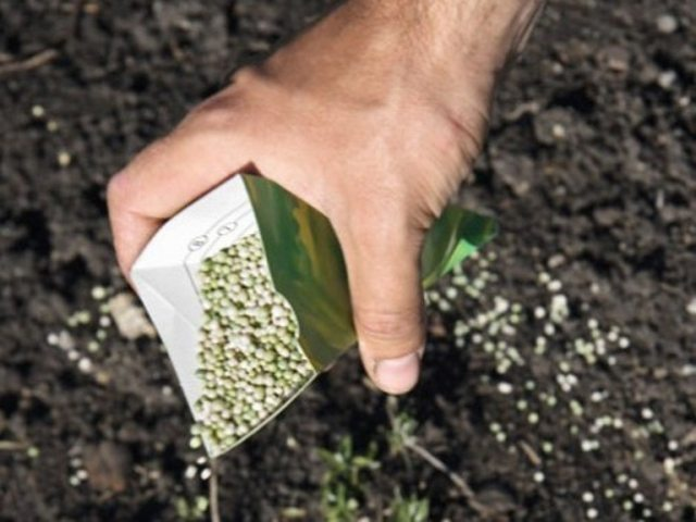 Внесение удобрений в почву.