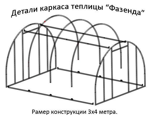 «Фазенда» - одна из наиболее популярных моделей поликарбонатных парников