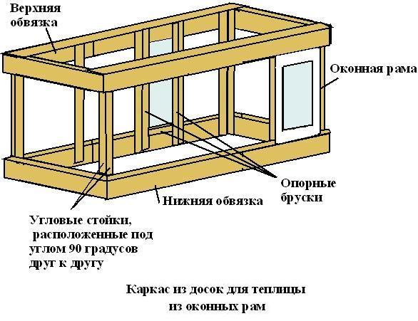 Схематичное изображение каркаса
