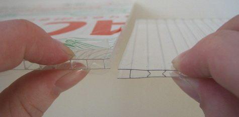 Качественный (слева) и некачественный(справа) поликарбонат