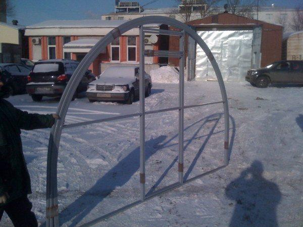 Цельносварной фронтон для будущего строения
