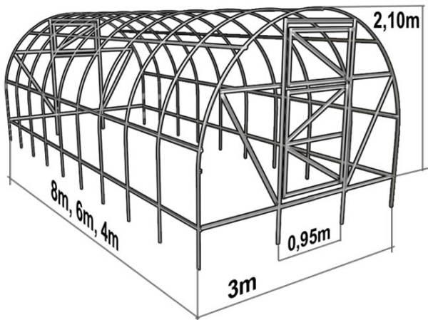 Принцип изготовления каркаса для данного типа покрытия
