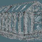 Схема двухскатной теплицы из поликарбоната