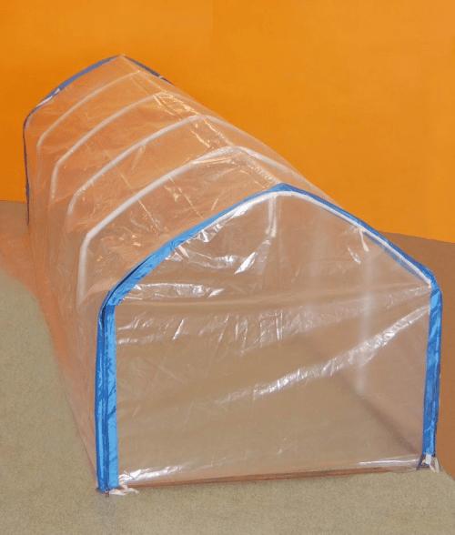 Самодельный колпак для парника, который размещается на полу